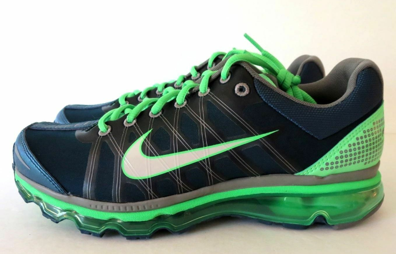 Nike Air Max 2009 bluee Grey Green Running shoes Mens  RARE  486978 407 Sz 8