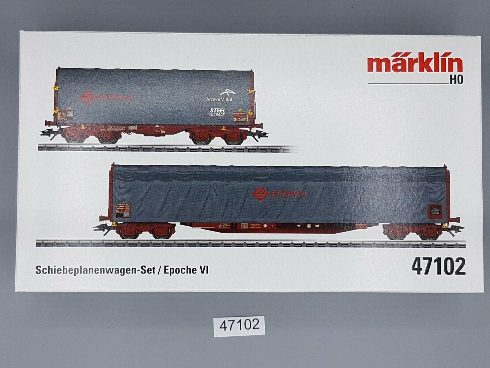 marklin 47102 pianifiautoe scorrevoli autorelloSet Ermewa 2 pezzi  neu in OVP