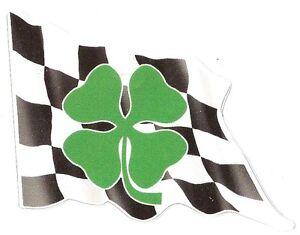 Sticker ALFA ROMEO trefle left flag gauche