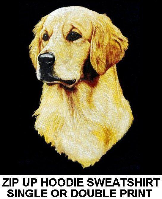 GORGEOUS BEAUTIFUL SHOW QUALITY GOLDEN RETRIEVER DOG ZIP HOODIE SWEATSHIRT WS704