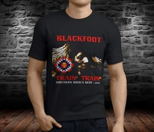Train Men's Blackfoot T Popular Band Legend Rock Shirt Black EbeDIWY29H