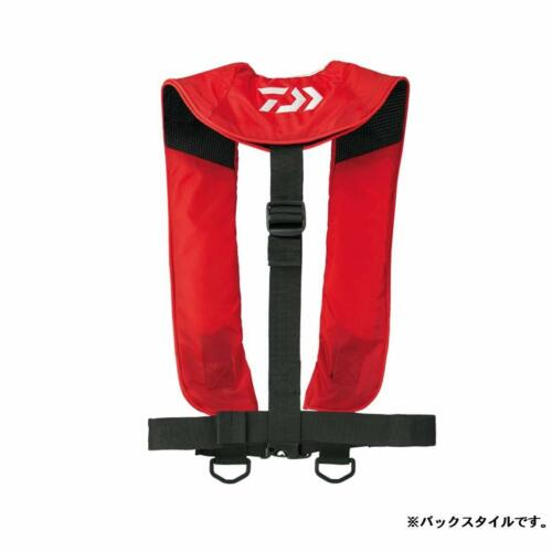 Daiwa DF-2608 Inflatable Life Jacket Washable Shoulder Type Free Size Red Vest