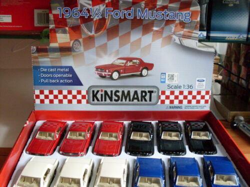 1:36 1964 1//2 FORD MUSTANG Bianco Welly Auto Modello ca