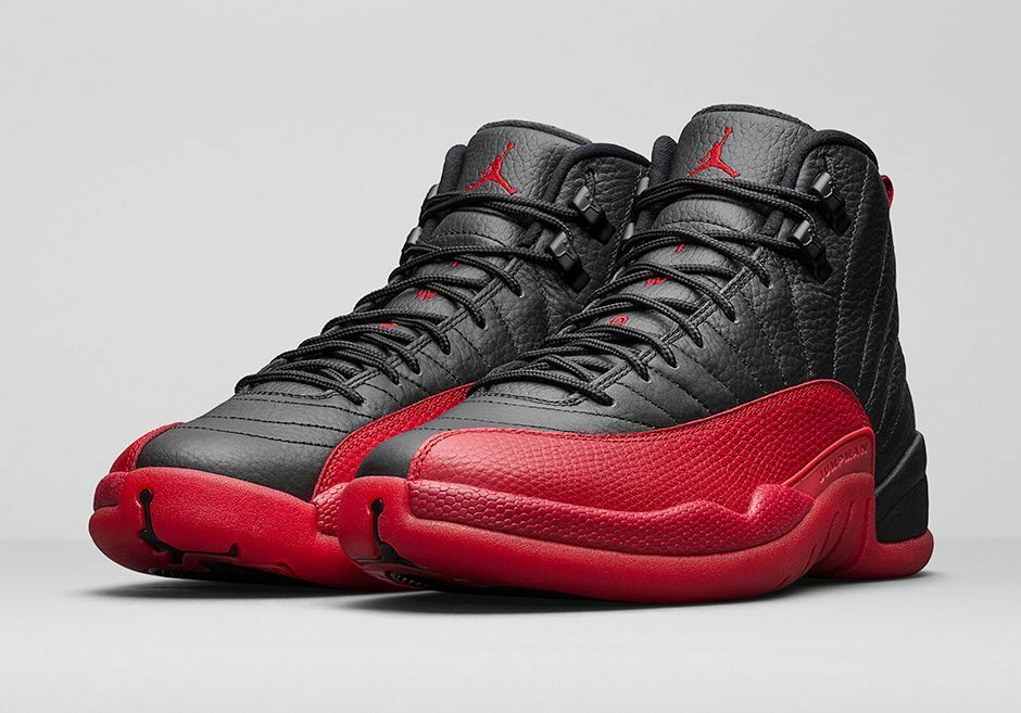 Nike Air Jordan XII 12 Flu Game Retro Black Red 130690 002 (Size 13)
