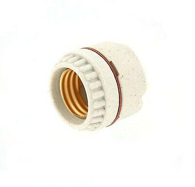 White Medium Incandescent Leviton 19062 002-000 1-Circuit 1-Piece Keyless Lamp Holder 660 W
