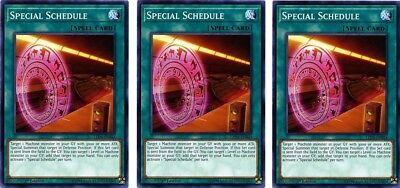 3 x Special Schedule  LED4-EN044  Common 1st Ed  YuGiOh Cards Collections Cartes à l'unité