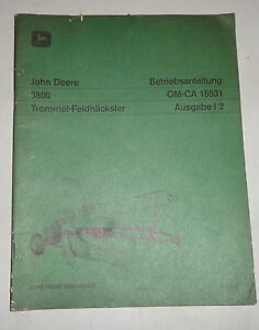 Business & Industrial Manual De Instrucciones/bedienunsanleitung John Deere Trommel-feldhäcksler 25