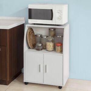 Dettagli su SoBuy® Mobiletto per Forno a microonde,Carrello da  cucina,credenza,FRG241-W,IT