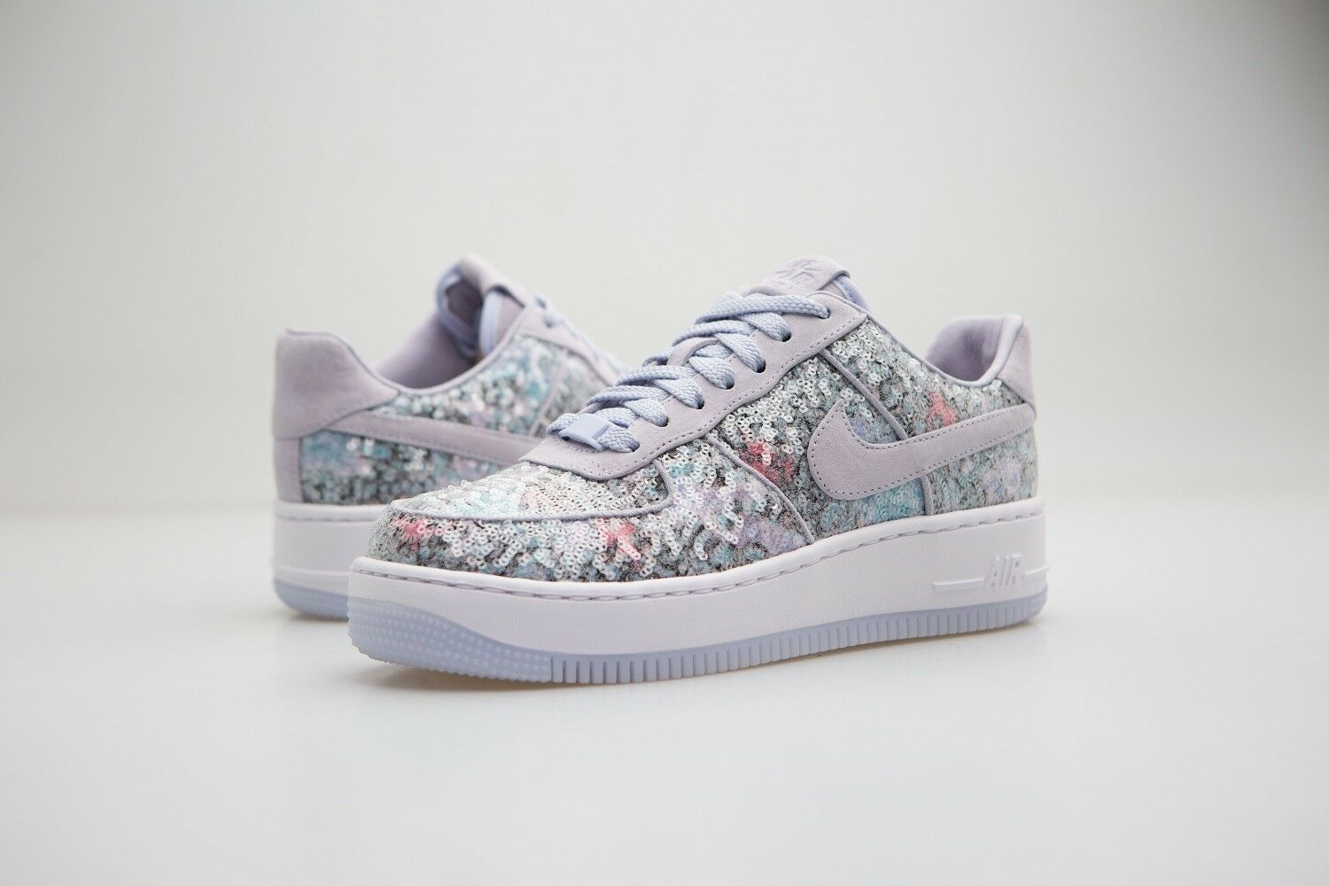 917589-500 Nike Women AF1 Air Force 1 Upstep 35 Palest Purple White
