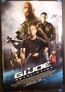 Gi Joe Retaliation 2013 Original 27x40 Movie Poster Ds Dwayne Johnson Ebay