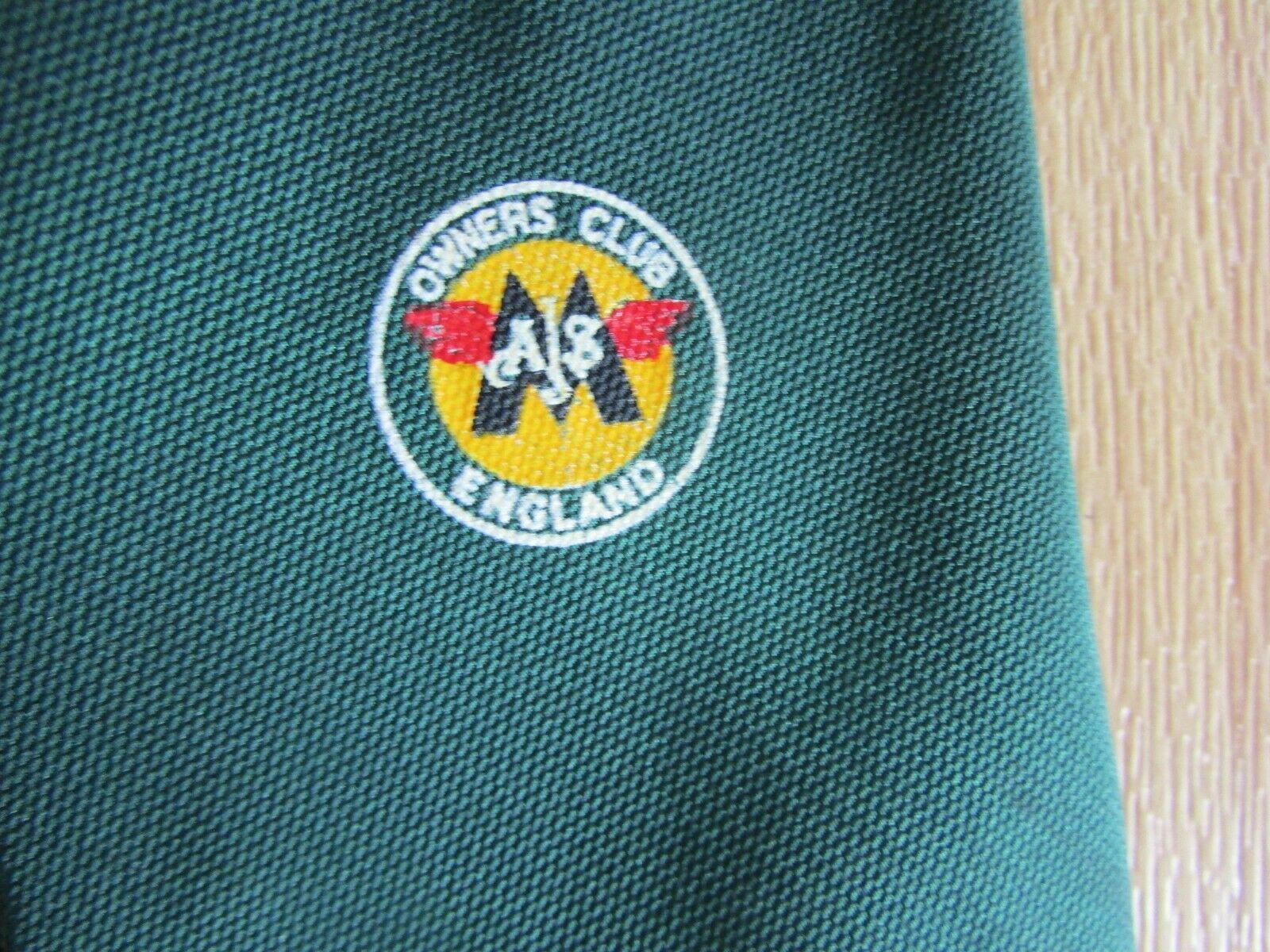 AJS Owners Club England Classic Motor Cycle / Bike Tie by Rawlins Organisation