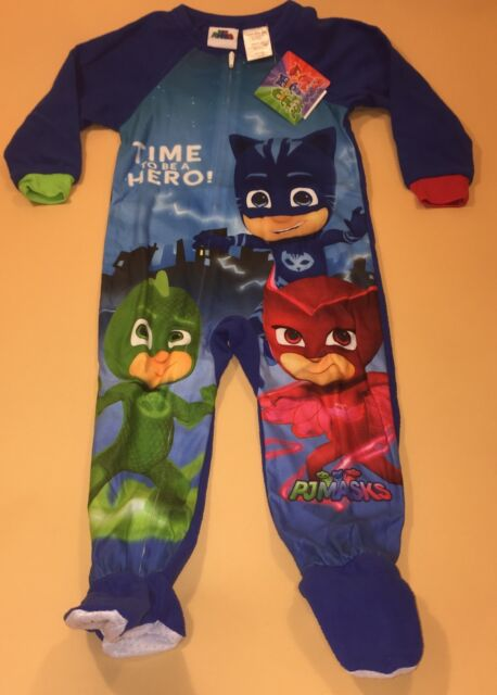 dd03be3ebb Disney PJ Masks Toddler Boy Footed Blanket Sleeper Pajamas 2t for ...