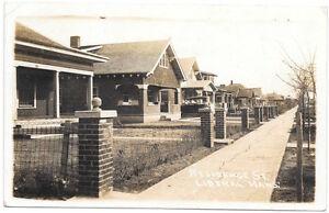 Real Photo Postcard Residence Street in Liberal, Kansas~105100