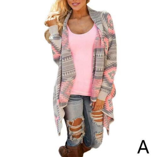 Cardigan Strickpullover Mit Schal Frauen Mantel Outwear Langarm Pullover Z1G2