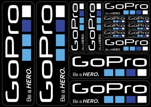 Cámara de acción Gopro Hero Reemplazo Calcomanías Pegatinas Gráfico de vinilo 14 piezas