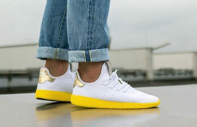 Men's adidas Originals Pharrell Williams Tennis HU WhiteYellow Sz 10 BY2674 NIB