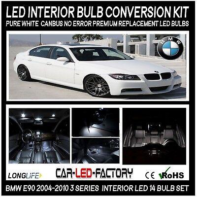 Premium LED Interior Light Conversion Set BMW E90 3 Series 2004-2010 PURE White
