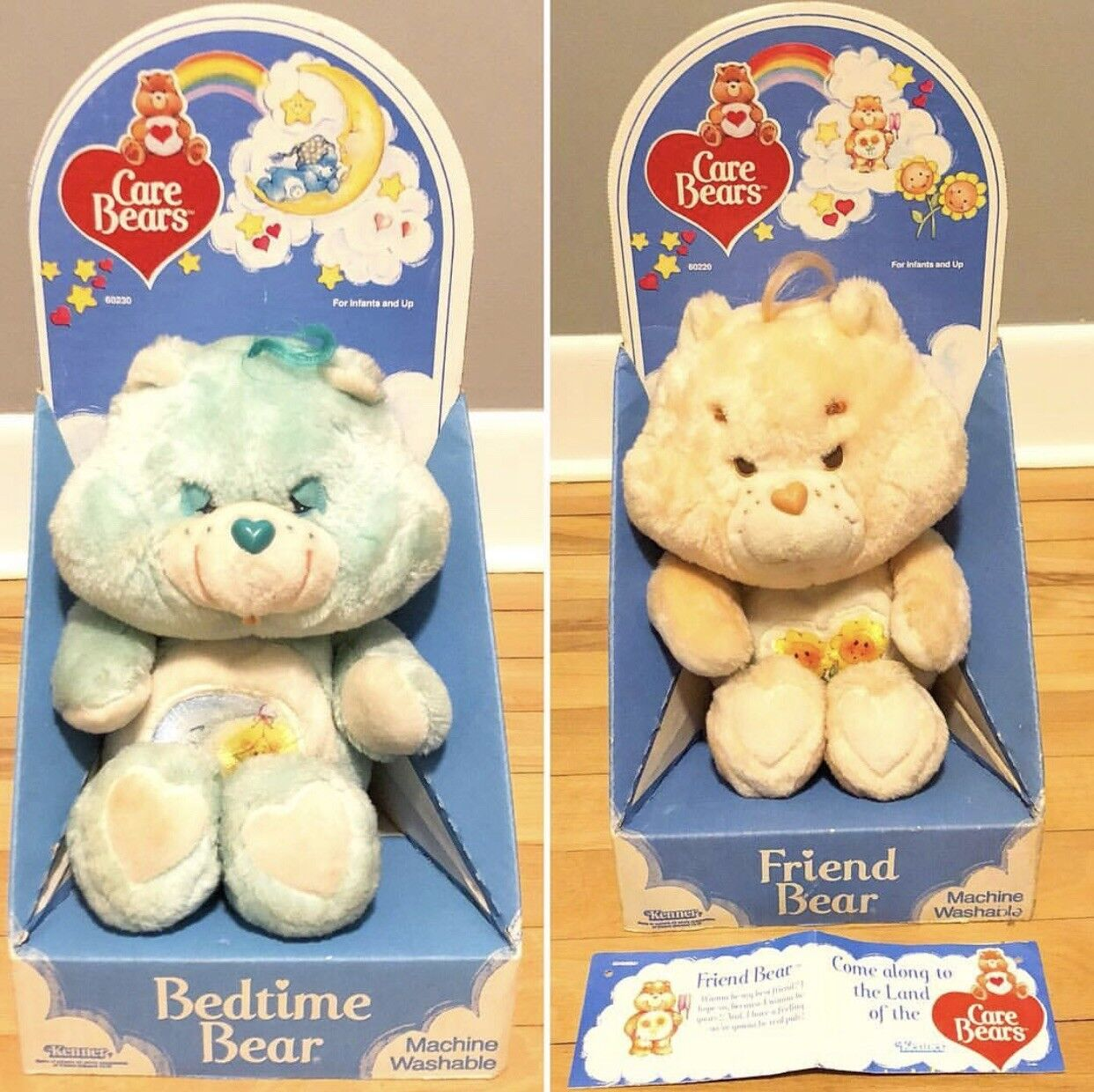 Care Bears FRIEND BEDTIME Bear PLUSH 1985 Vintage Kenner American Greetings Doll