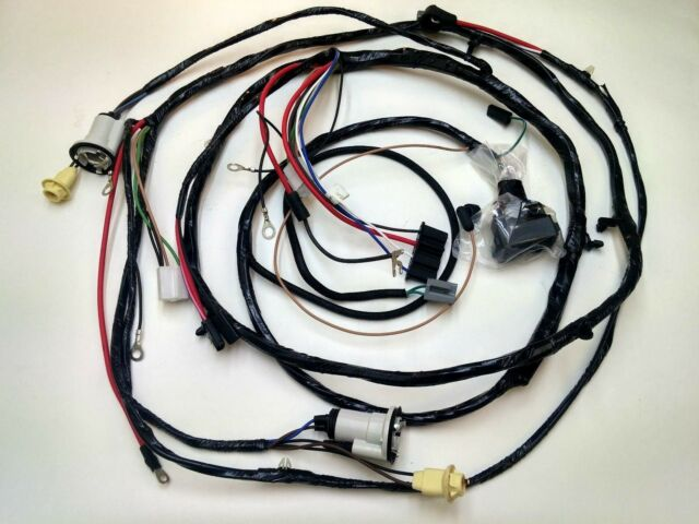 71 Chevelle V8 w//Gauges Front Light Wiring Harness W//O A//C W Warning Lights