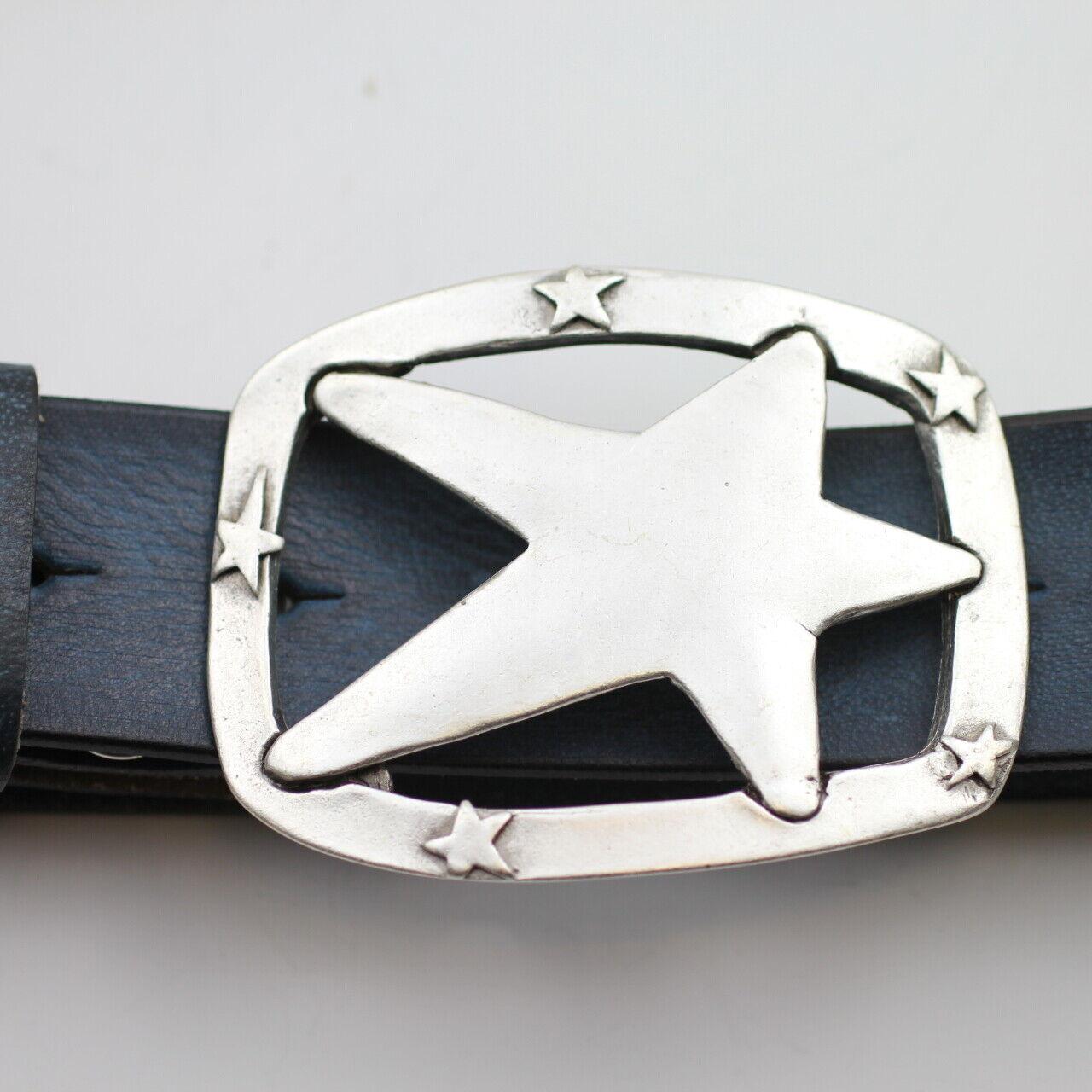 Gürtelschnalle Stern Wechselschließe mit Stern für Ledergürtel Buckle gs210