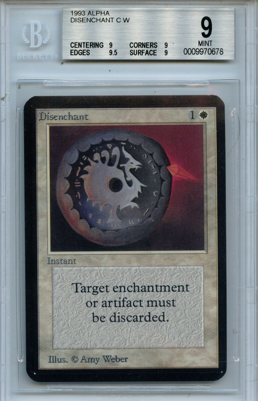 MTG MTG MTG Alpha Disenchant BGS 9.0 (9) Mint Magic the Gathering WOTC card 0678 0c8b0c