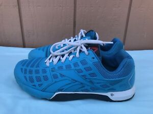 Women-039-s-REEBOK-CROSSFIT-CF74-NANO-3-0-Blue-Red-US-8-5-Training-Running-Shoes-A9