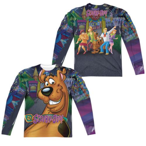 Scooby Doo Cartoon BIG DOG Scooby Face 2-Sided Print Long Sleeve Poly T-Shirt