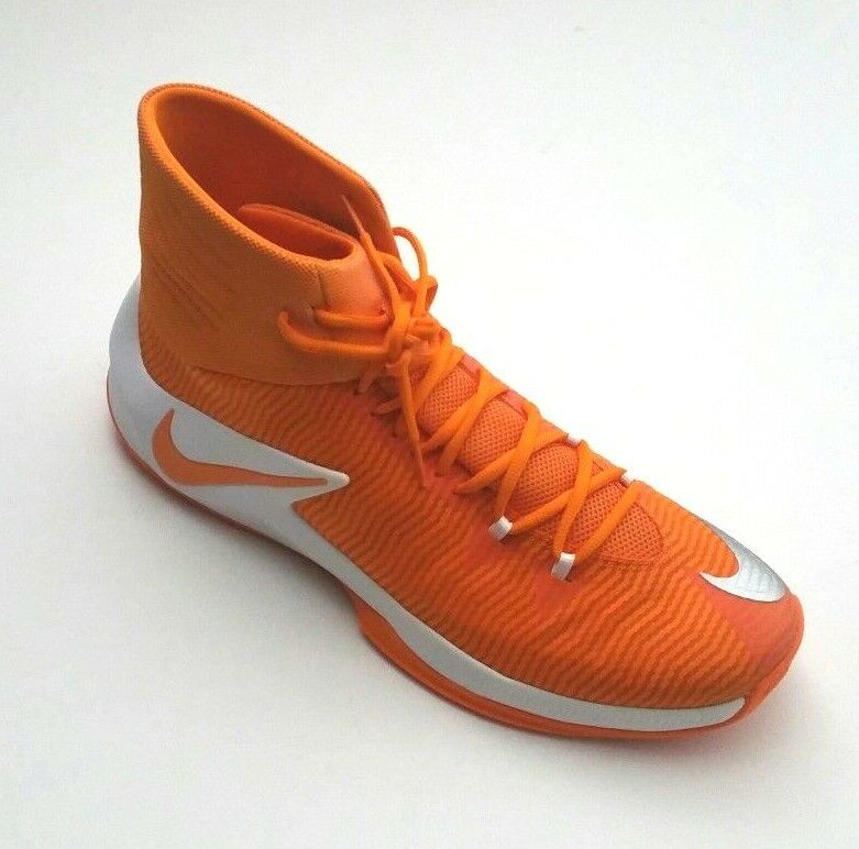 Nike Men's 856486-881 Zoom Clear Out TB Basketball shoes orange White Size 16.5