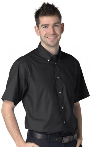 DELUXE SHORT SLEEVE OXFORD SHIRT SIZE S-4XL BLACK
