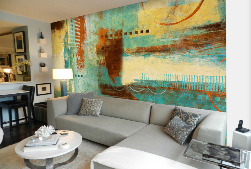 Papel Pintado Mural De Vellón Pintura Abstracción 0 Paisaje Fondo De Pantalla ES