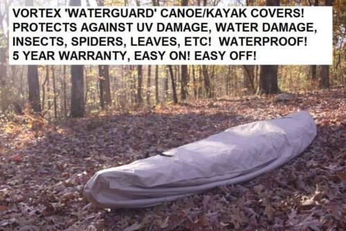 HEAVY DUTY MARINE CANVAS VORTEX TAN//BEIGE 10/' WATERGUARD KAYAK//CANOE COVER