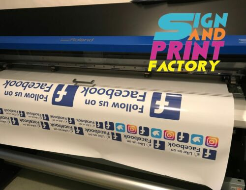 2x Follow Us On Snapchat Sticker Decals Sign Choose From 5 Different Sizes