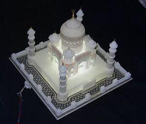 14-034-x14-034-Marble-Taj-Mahal-Collectible-Replica-Fine-Natural-Stone-Beautiful-Gifts