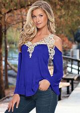 68558d68a4d965 item 1 Plus Size 6-24 UK Womens Cold Shoulder Lace Tee Shirt Ladies Summer Tops  Blouse -Plus Size 6-24 UK Womens Cold Shoulder Lace Tee Shirt Ladies Summer  ...
