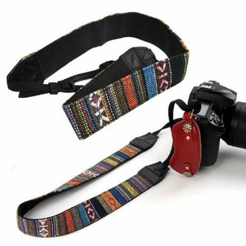 Cámara SLR Vintage SLR D Hombro Cuello Correa Cinturón Para Sony Canon Nikon Pentax Reino Unido