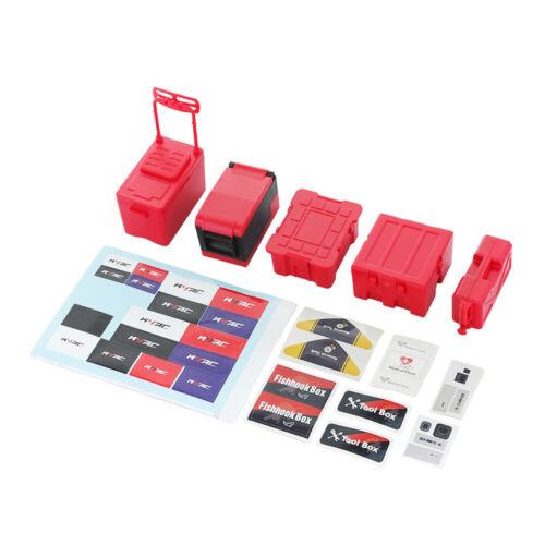 Storage Box Decoration Case Tool Set für 1//10 Simulation Climbing Car TRX4 SCX10