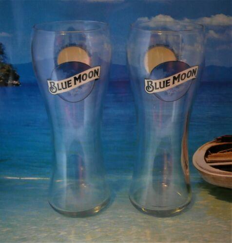 Blue Moon 2019 New Shape x 2 Belgian-style witbier Pint Beer Glasses