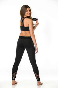 NEW-2pc-PURPLE-PIXIES-SET-KALANI-DANCE-TOP-amp-LEGGING-BLACK-LACE-XS-S-M-L