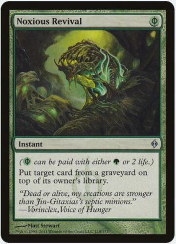 FREE US SHIPPING! New Phyrexia MTG X1: Noxious Revival Moderate Play U