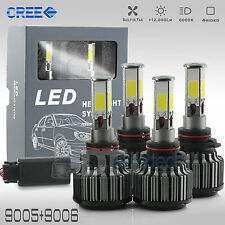 9005+9006 Combo 240W 24000LM CREE LED Headlight Kit High & Low Beam Light Bulbs