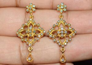 CERTIFIED-NATURAL-1-1CT-VS-G-DIAMOND-18K-SOLID-GOLD-COCKTAIL-CHANDELIER-EARRINGS