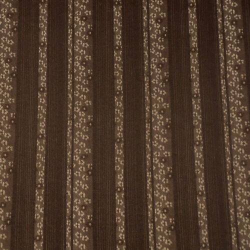 DRESS FABRIC-FREE P/&P FLORAL STRIPE JACQUARD-BROWN