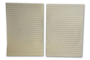 A5 LINDED  REFILL  LOOSE PAPERS 100 pages per Pk 148x210mm 2 holes.