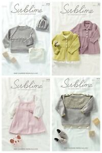 New-Sublime-Baby-Cashmere-Merino-Silk-4ply-patterns-6170-6173-2-90-each