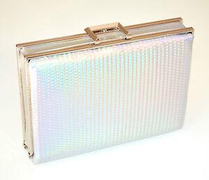 POCHETTE-donna-ARGENTO-borsa-borsello-clutch-bag-elegante-cerimonia-sac-E110