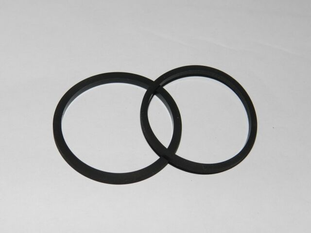 2 Correas CUADRADAS PARA Tape CD etc. 43,3 x 1,0mm NUEVO 020053
