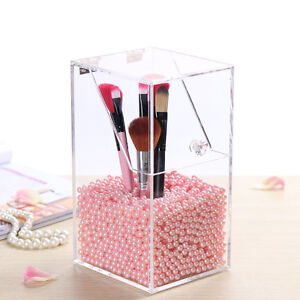 Acrylic-Dustproof-Makeup-Organizer-Cosmetic-Storage-Brush-Holder-Case-Pearl-Box