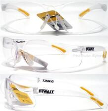 Lot of 3 Pair Dewalt Contractor Clear Lens Safety Glasses Z87.1