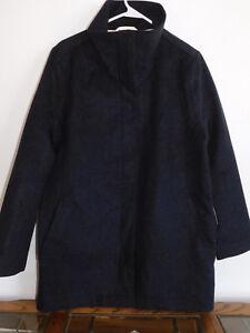 Womens d'agnello Large di impermeabile Charcoal lana Nwot Campbell Cappotto di Pendleton lana q4dqvwx5S