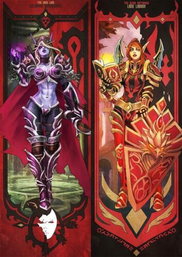 Poster World of Warcraft Multiformato Sylvanas /& Liadrin